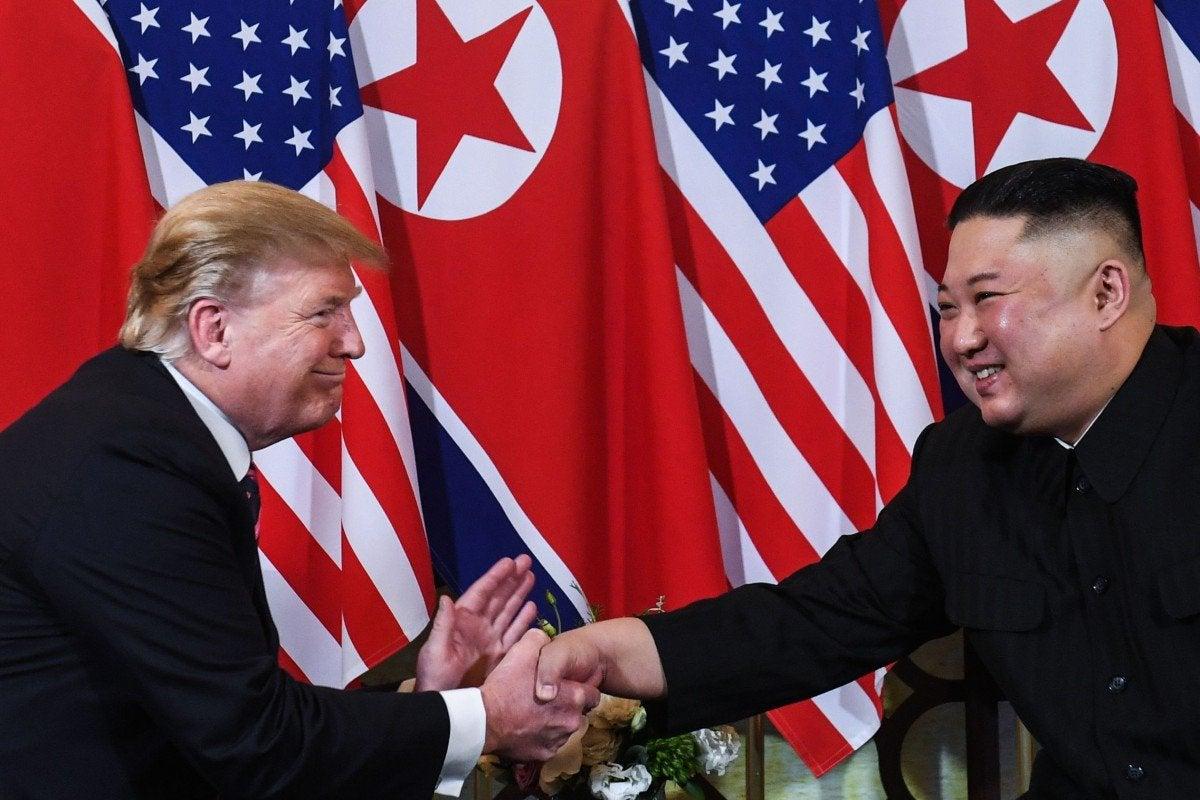 Donald Trump and North Korean leader Kim Jong
