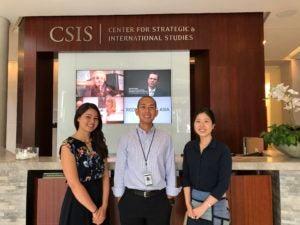 MASIA students pose at CSIS