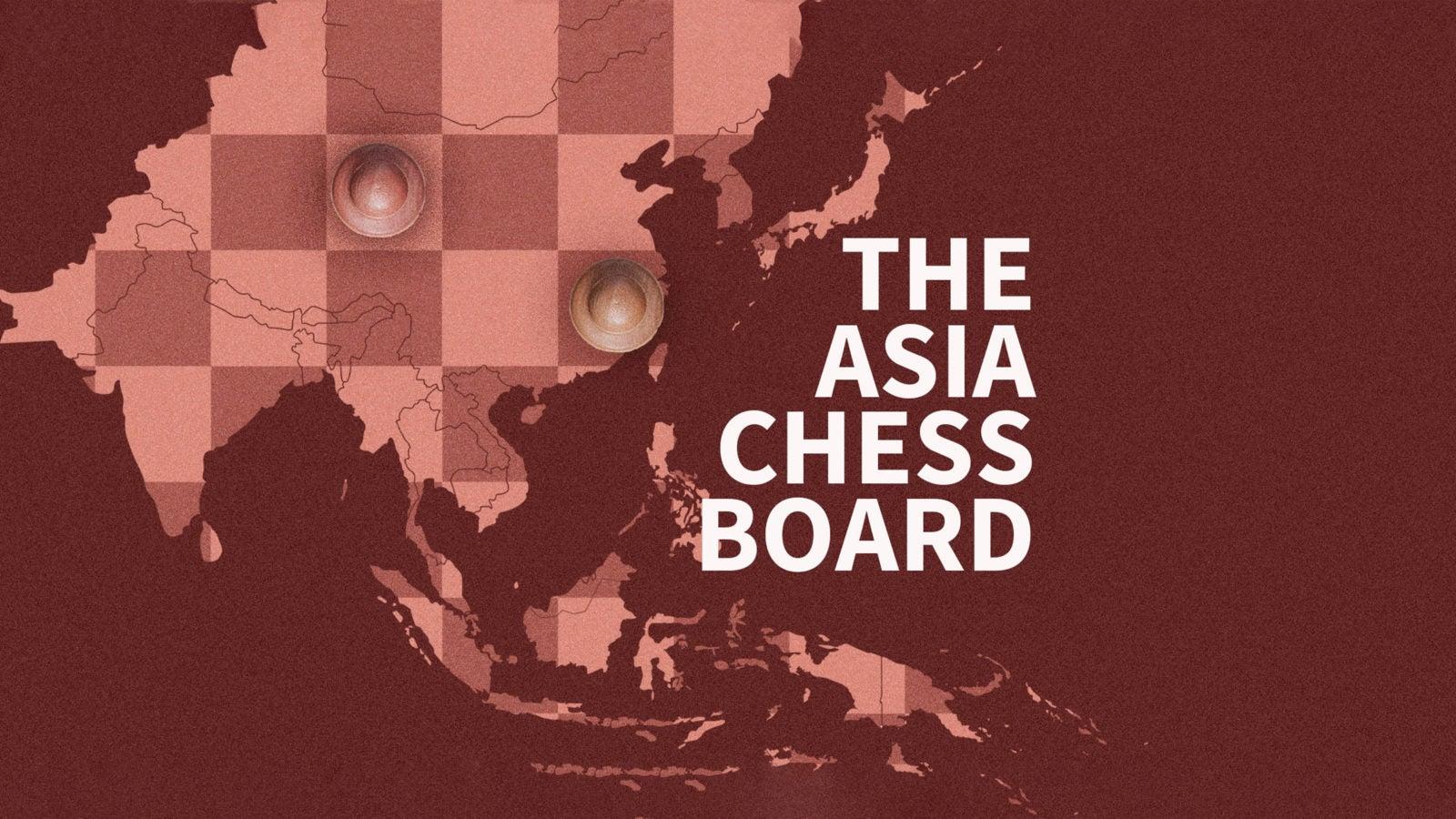 The Asia Chessboard logo
