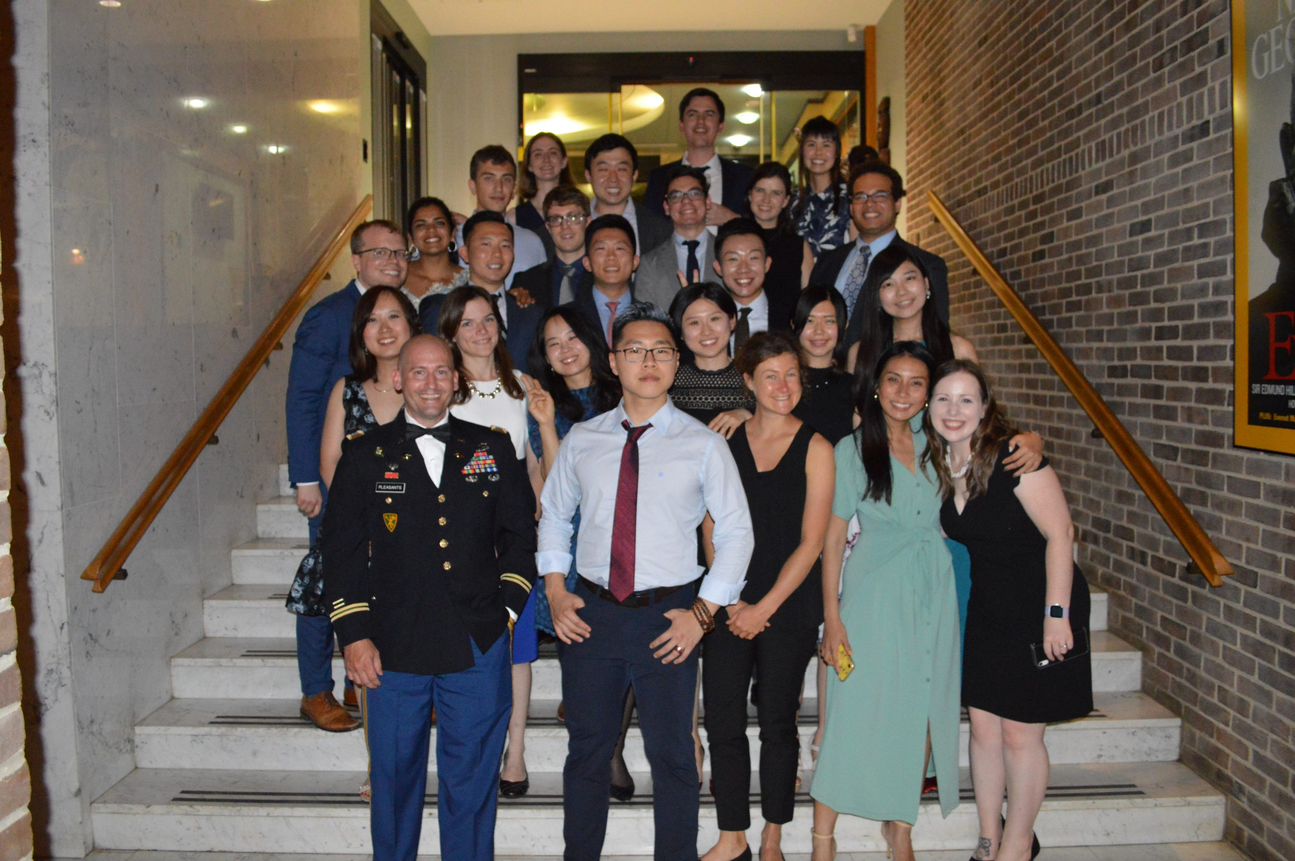 MASIA students pose at graduation banquet dinner