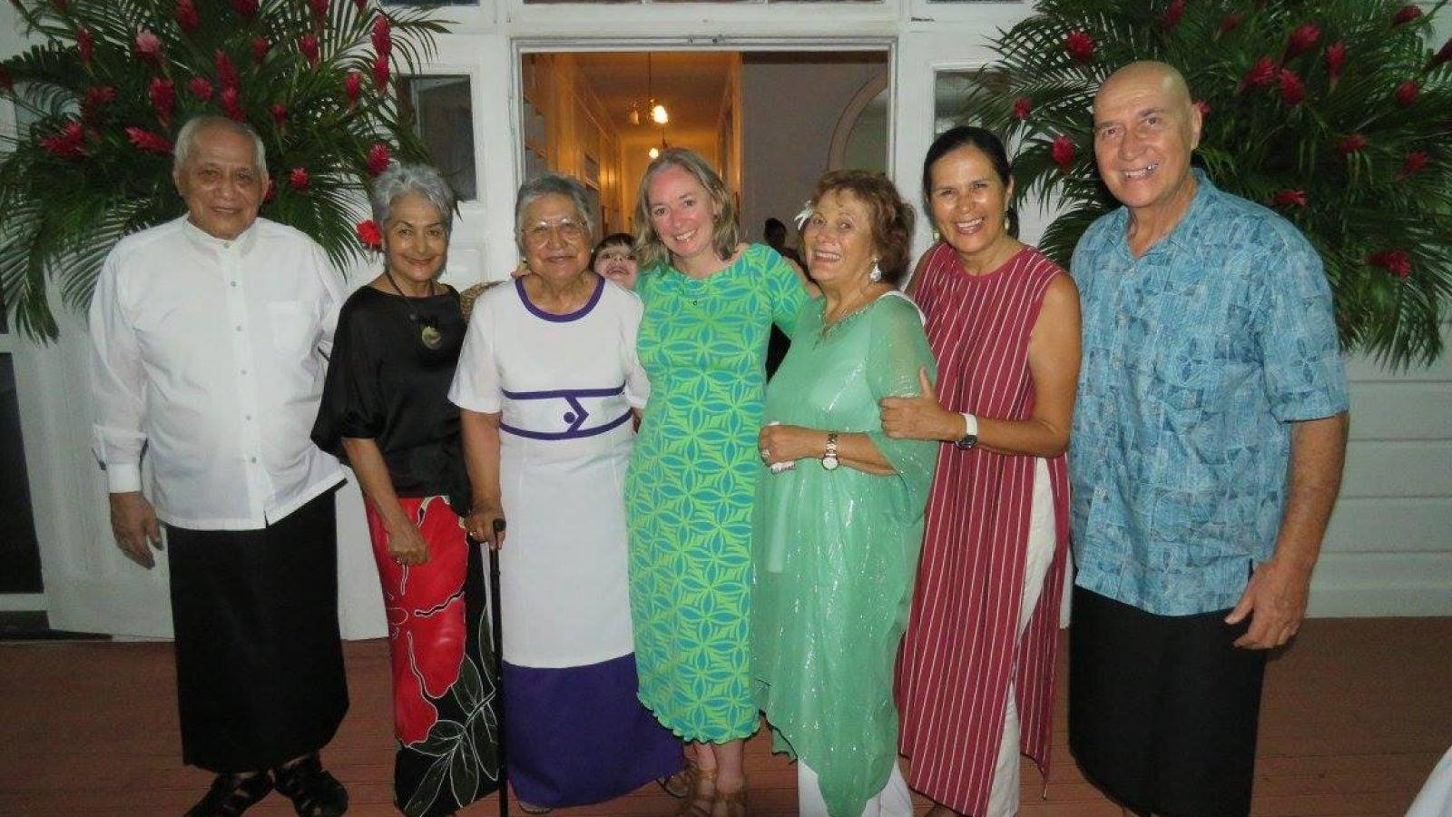 Patricia O'Brien with Ta'isi Aiga